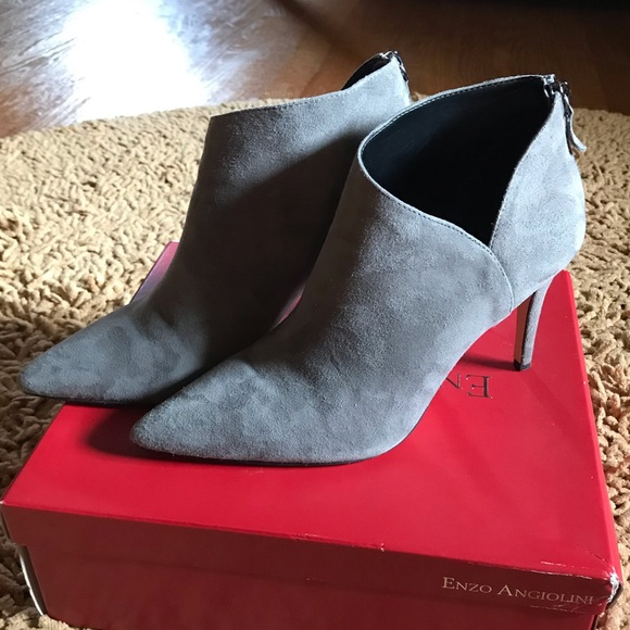 Enzo Angiolini Shoes   Suede Booties